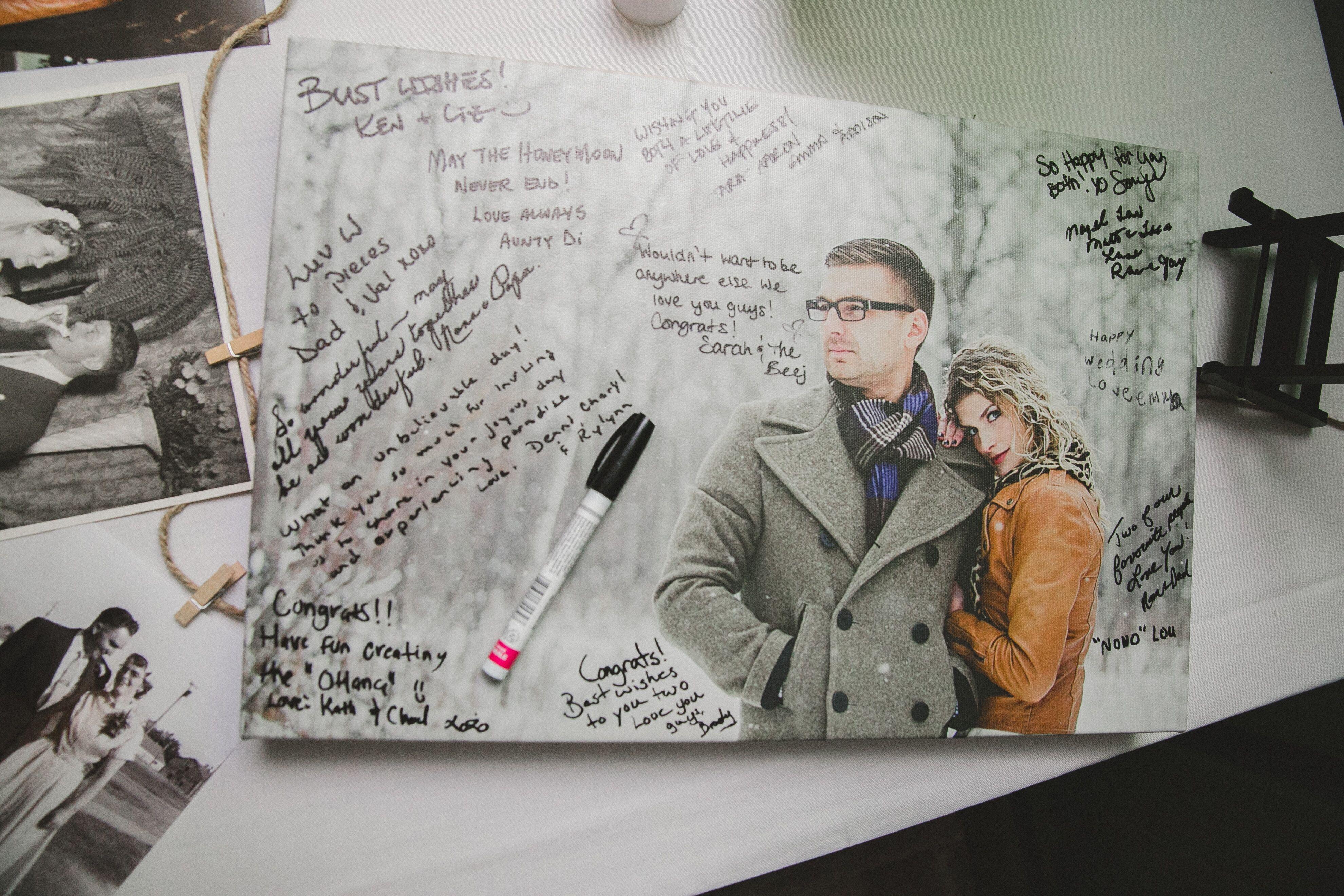photo canvas guest book