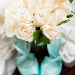 Turquoise Wedding Flower Arrangements