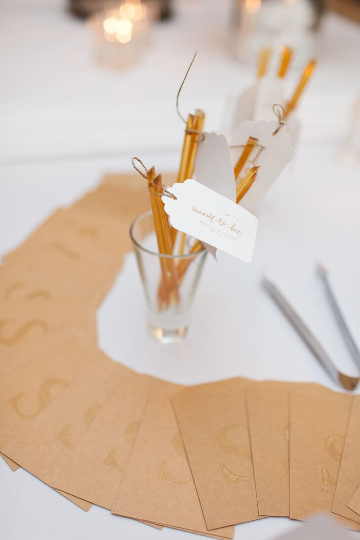 Honey Straw Wedding Favors