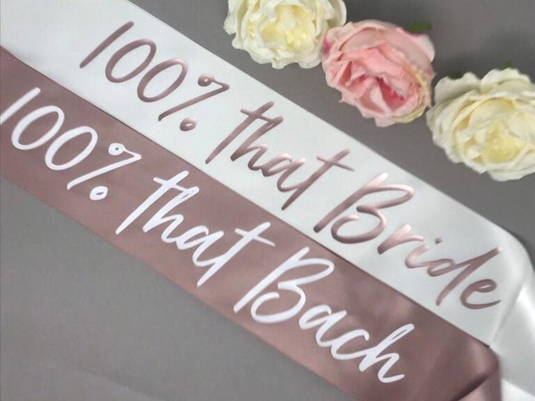 Regalo addio al nubilato Lizzo bride sash
