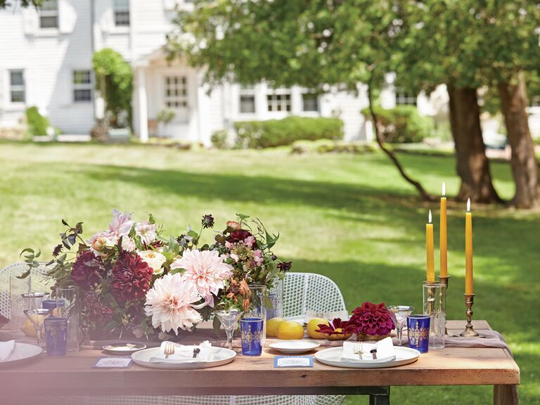 a chic garden party bridal shower