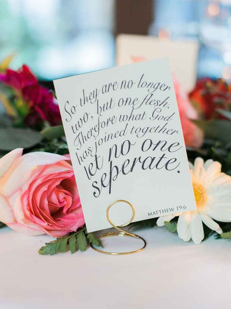 Wedding sign placecard