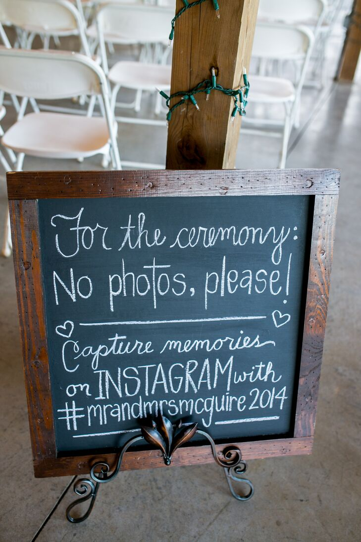 DIY Chalkboard Ceremony Sign