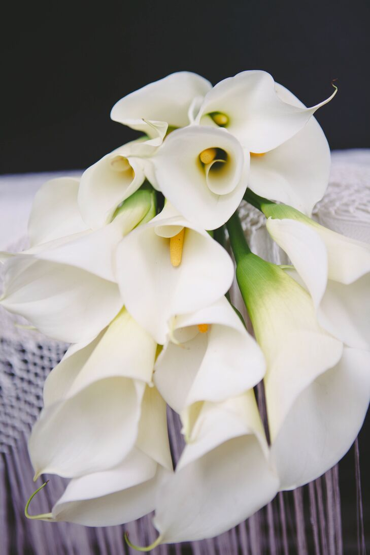 White Calla Lily Virgin Mary Bouquet