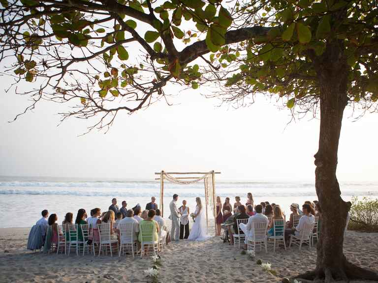 Destination wedding beach ceremony
