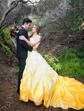 Beauty and the Beast wedding styled photo shoot