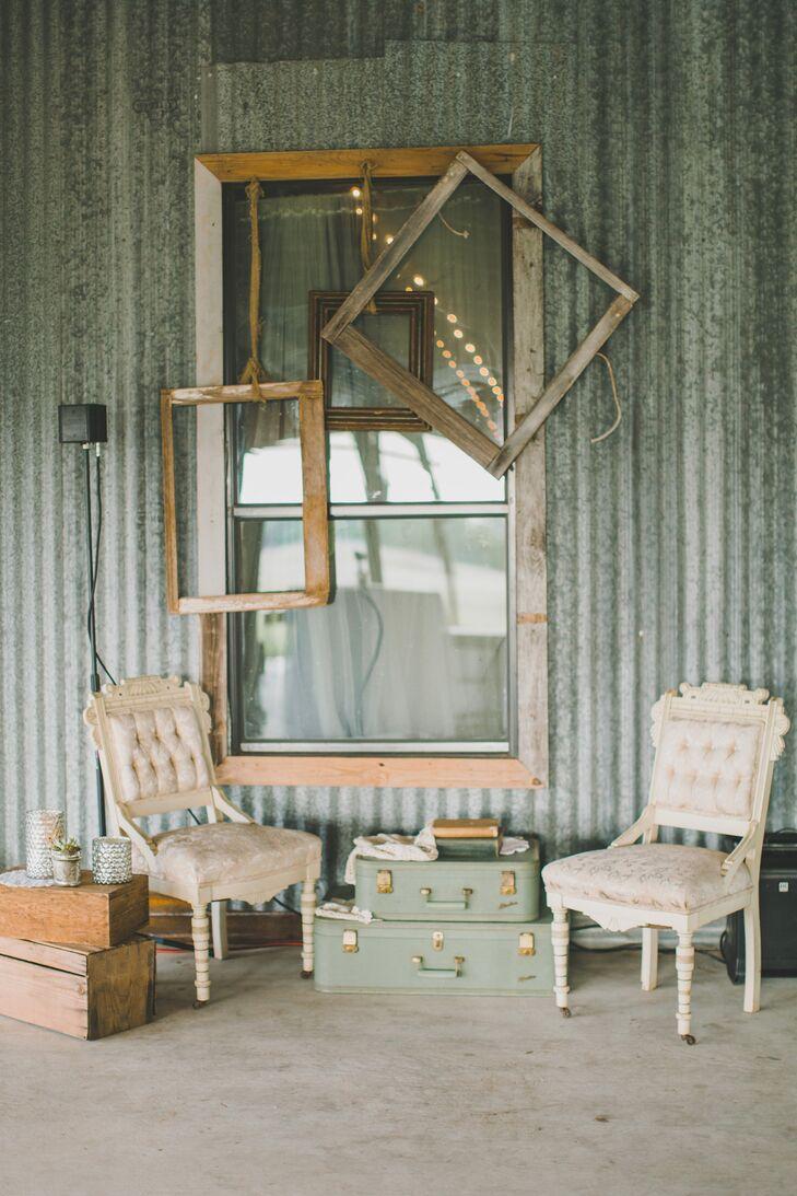 - Vintage Furniture Decor At Ranch Wedding In Austin, Texas