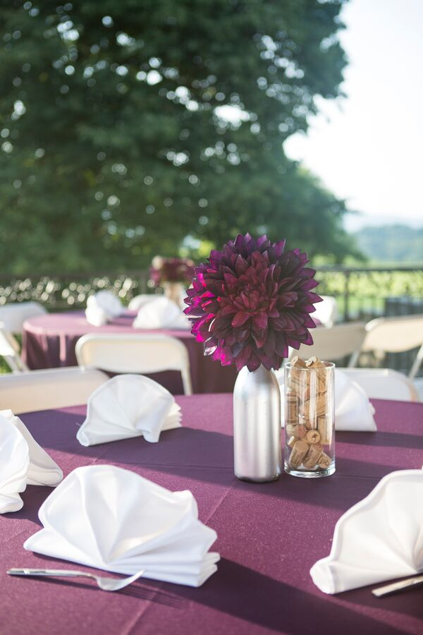 Casual Purple And Gray Wedding Party