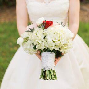 Lace Wred White Hydrangea Bridal Bouquet