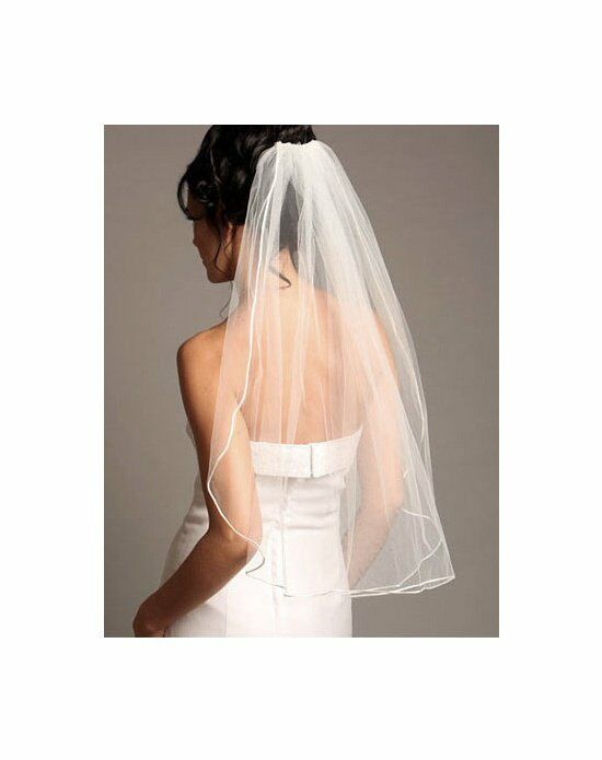 USABride 1 Layer, Satin Corded Veil VB-423 Wedding Accessory photo