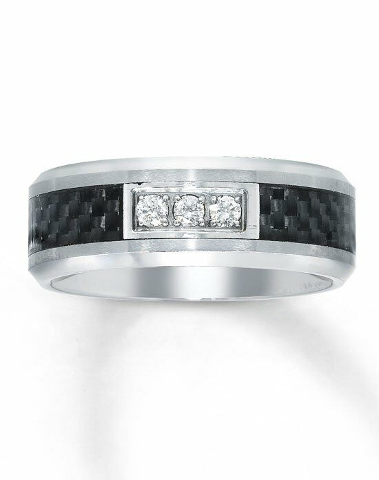 Kay Jewelers Tungsten/ Carbon Fiber men's diamond ring-51117101 Wedding Ring photo