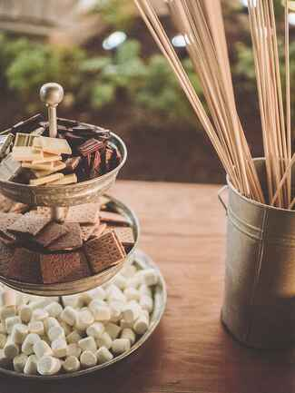 S'mores dessert for a rustic camp wedding