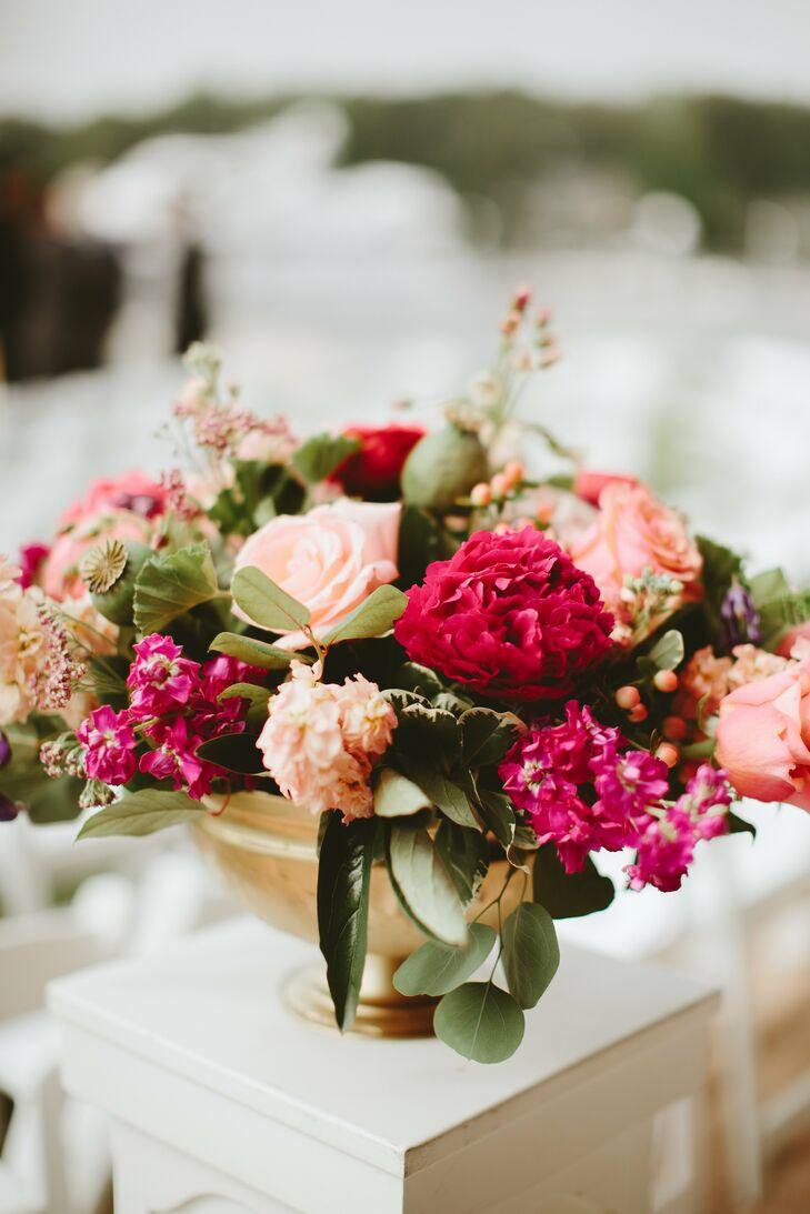 Classic Pink Hydrangea and Rose Flower Arrangement