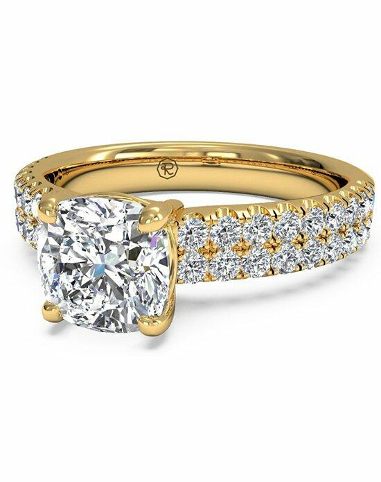 Ritani Cushion Cut Double French-Set Band Engagement Ring in 18kt Yellow Gold (0.59 CTW) Engagement Ring photo