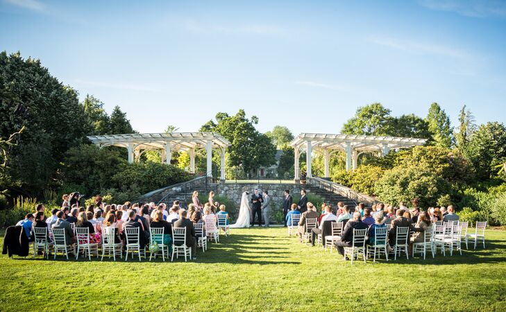 Secret Garden at Tower Hill Botanic Garden Wedding Ceremony