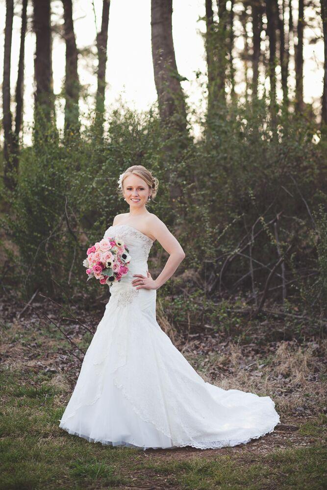Crystal Embellished Modified A-Line Wedding Dress