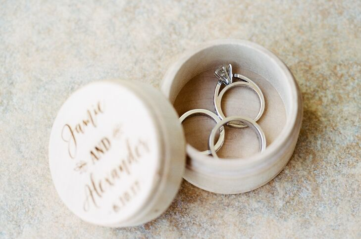Alex's godson was the couple's ring bearer, carrying a handmade ring box inscribed with the couple's names and wedding date.