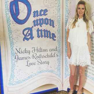 Nicky Hilton poses at her bachelorette party