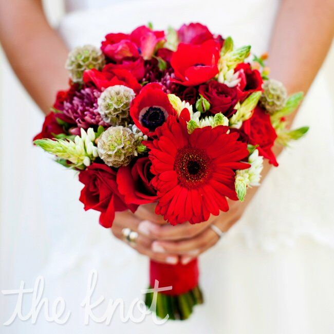 Red Poppy Bridal Bouquet