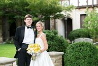 Heather and Brandon hosted a sophisticated modern soiree at Park Lane in Mountain Brook, AL. The couple mixed bright pops of yellow with sleek silver