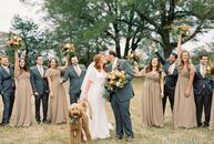 Libby Crom and Chris Pledger's intimate farm wedding in the heart of Arkansas featured rich, autumnal colors; chic, Provençal details; and an incredib