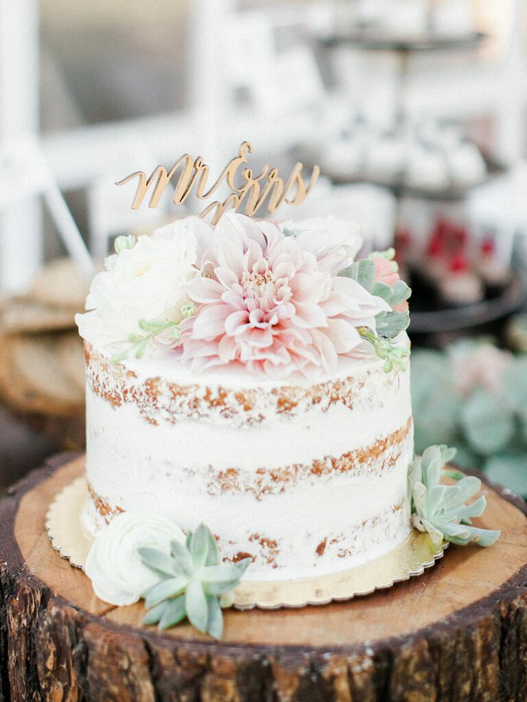 Single tier wedding cake midway media for Wedding cake layer