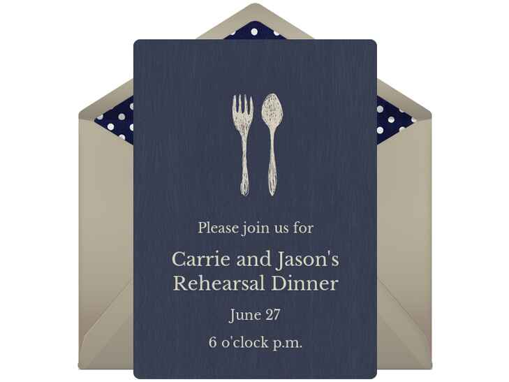 Digital rehearsal dinner invitation