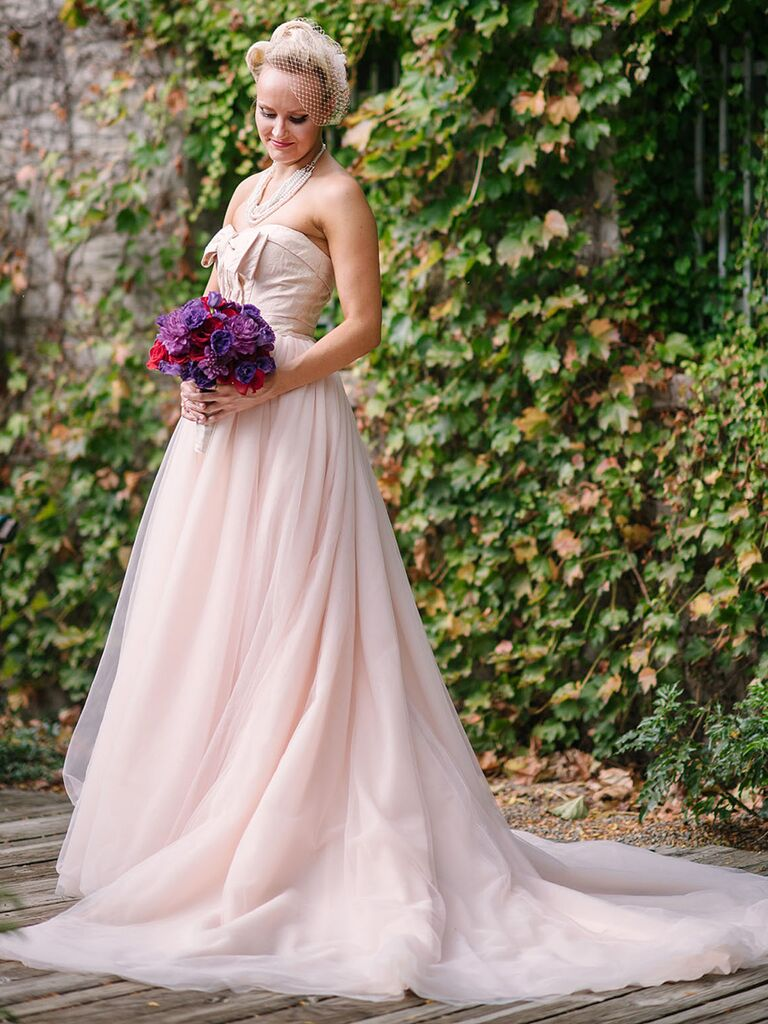 The prettiest blush and light pink wedding gowns blush pink wedding gown by white by vera wang junglespirit Images