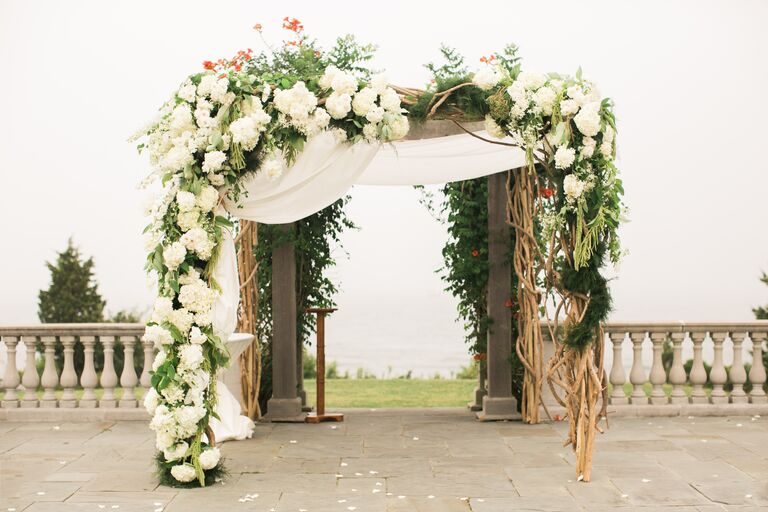 Romantic Opulent Floral Chuppah & 23 Creative Wedding Chuppah Ideas We Love.