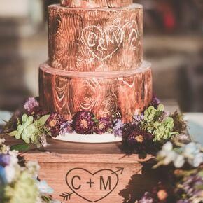 Rustic wedding cakes wood grain wedding cake junglespirit Image collections