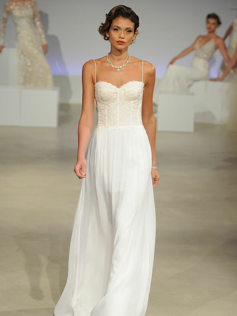 Anne Barge Fall Collection Bridal Fashion Week Photos