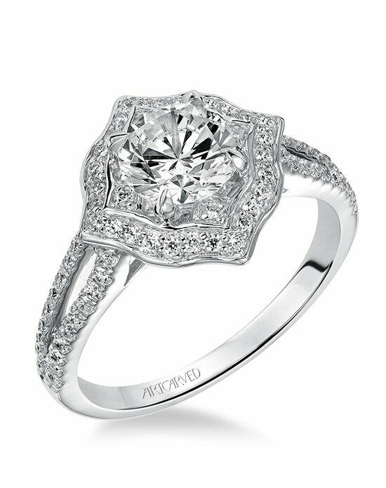 ArtCarved 31-V478ERW Engagement Ring photo