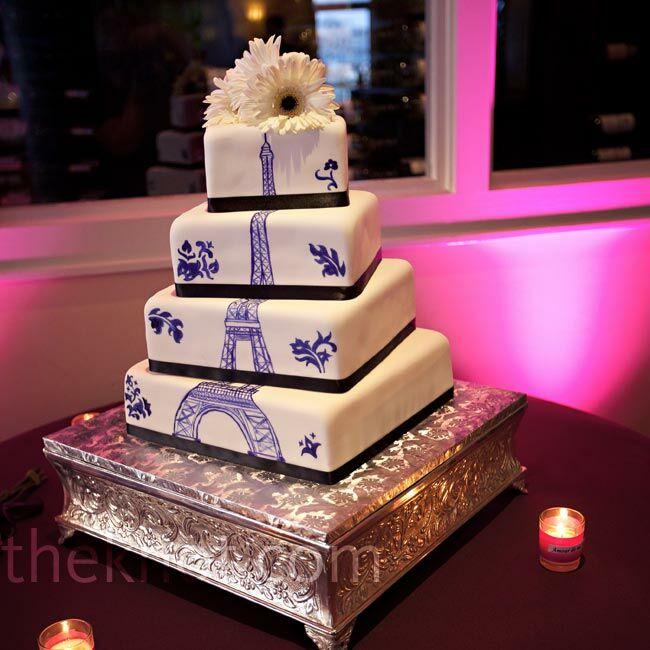Purple Eiffel Tower Cake