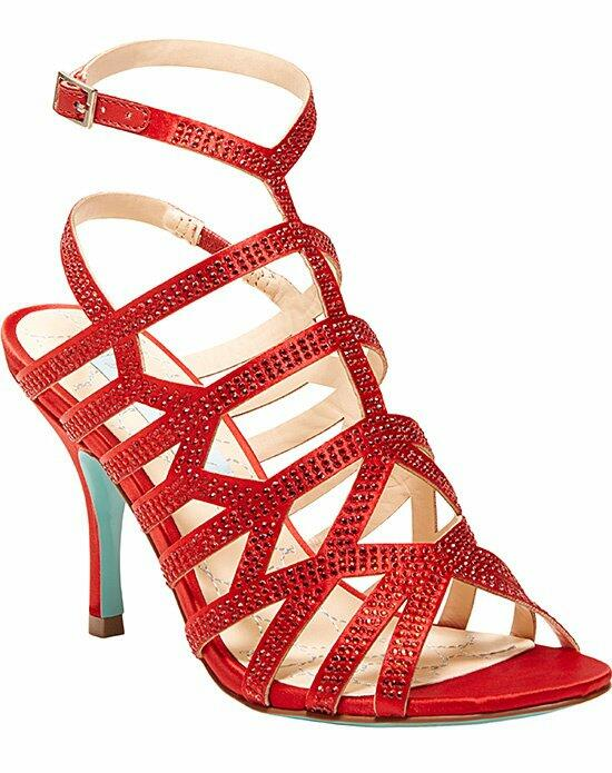Blue by Betsey Johnson SB-Fancy- Red Wedding Shoes photo