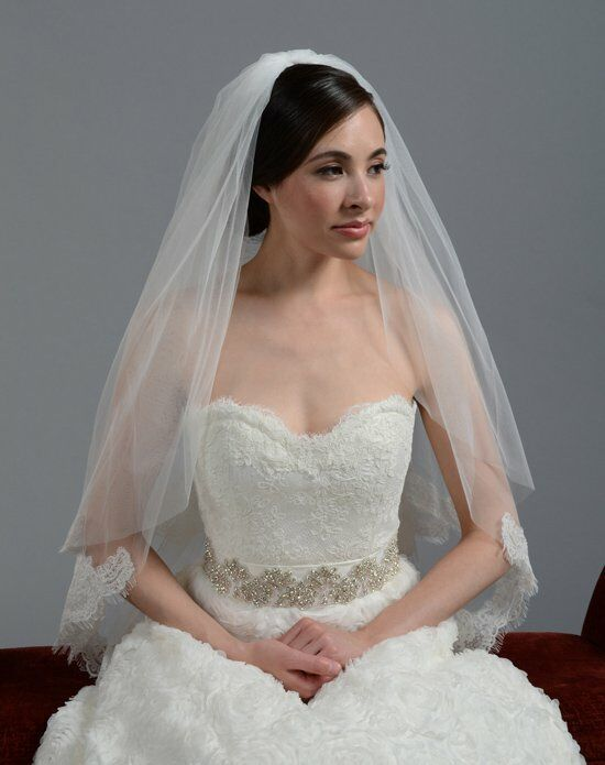 Tulip Bridal 2 Tier Lace Wedding Veil-V042 Wedding Accessory photo