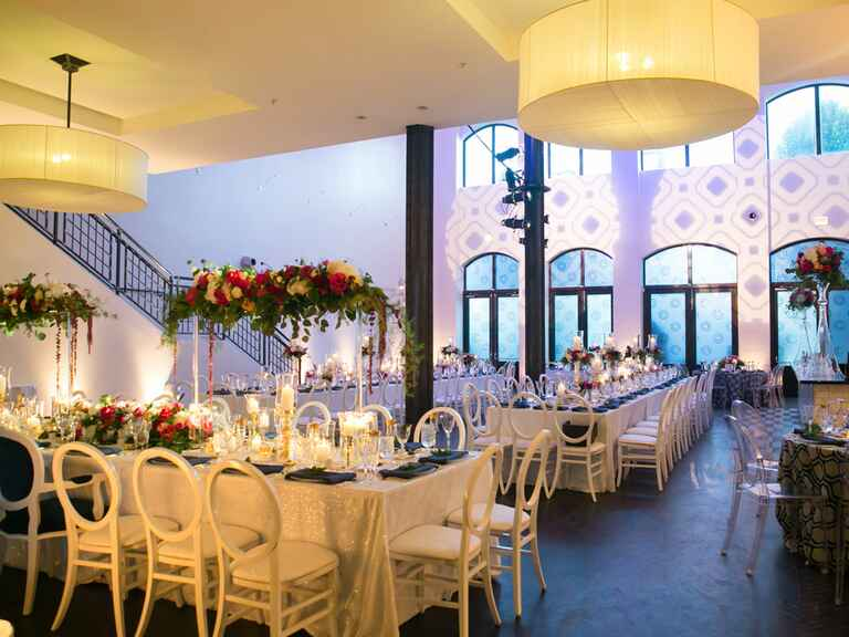 Reception space at a chicago wedding