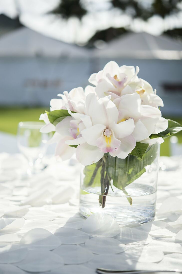 Low orchid centerpiece