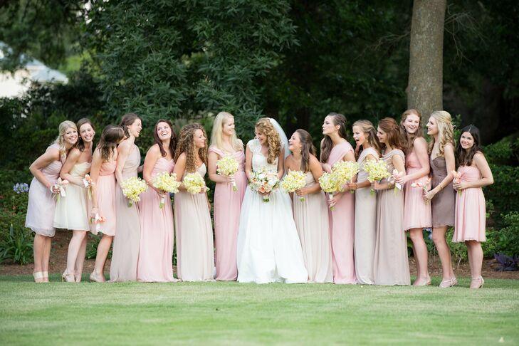 Light-Pink Bridesmaids
