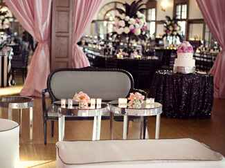 Glamorous wedding reception