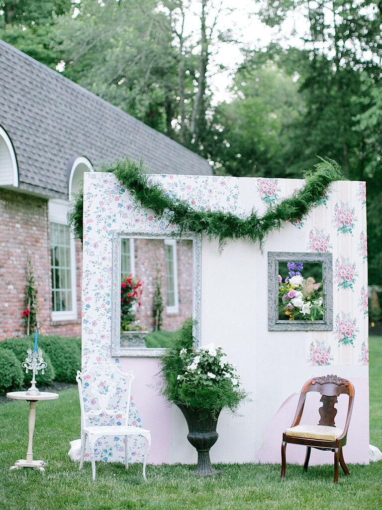 Faux Wall Photo Booth Idea For A Wedding Reception