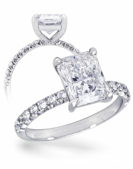 Diamond Ideals French Pave Radiant Engagement Ring-CUSTC0105 Engagement Ring photo