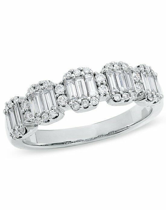 Zales 3/4 CT. T.W. Baguette and Round Diamond Band in 14K White Gold  17908971 Wedding Ring photo