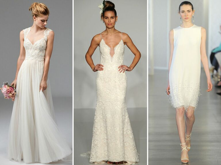 From Left Watters Wedding Dress Maggie Sottero Oscar De La Renta
