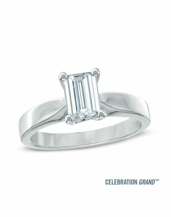 Celebration Diamond Collection at Zales Celebration Grand® 1 CT. Emerald-Cut Diamond Solitaire Engagement Ring in 14K White Gold (J/SI2)  19954620 Engagement Ring photo