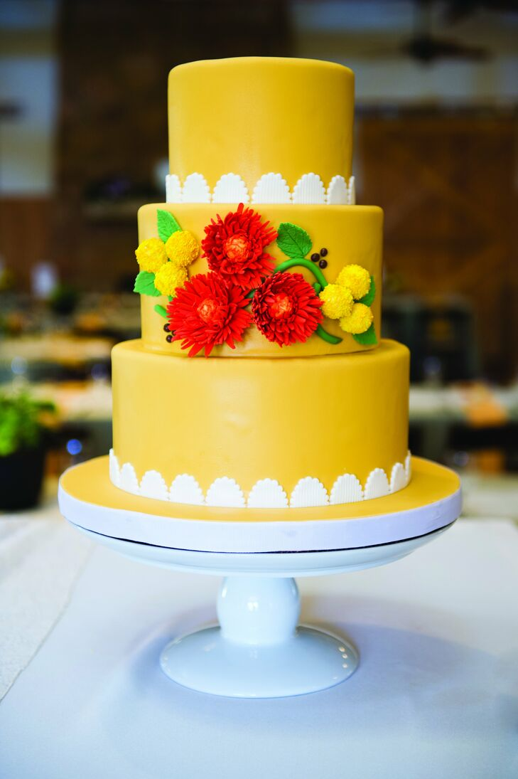 Bright Yellow Wedding Cake