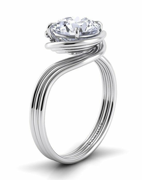 Danhov Abbraccio Triple Swirl Engagement Ring photo