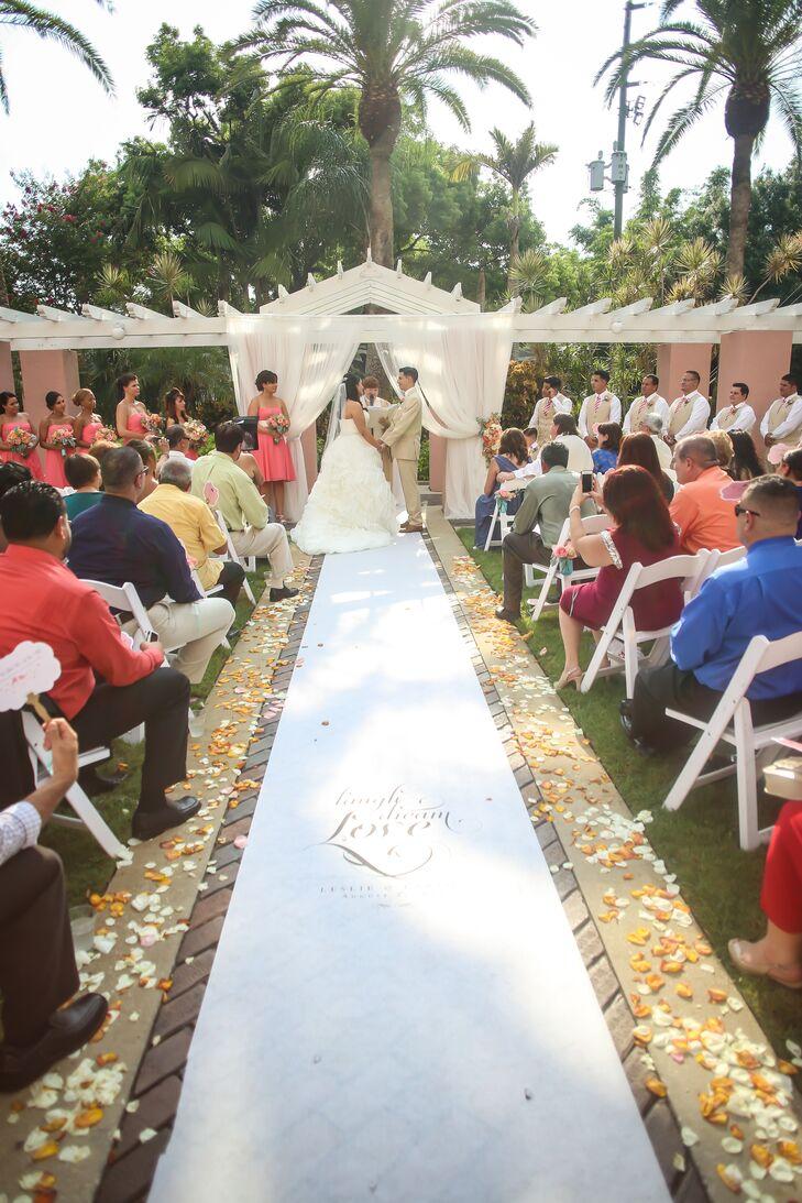 Custom Aisle Runner, Flower Petal Ceremony Decor