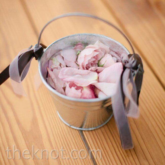 Metal flower girl bucket