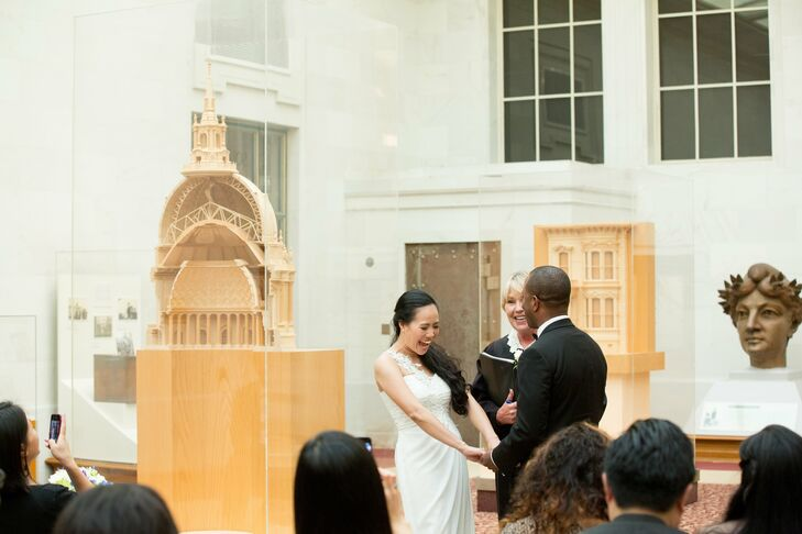 The ceremony at San Francisco City Hall was short and sweet, but a joyous occasion for Cielito and Bethelwel.
