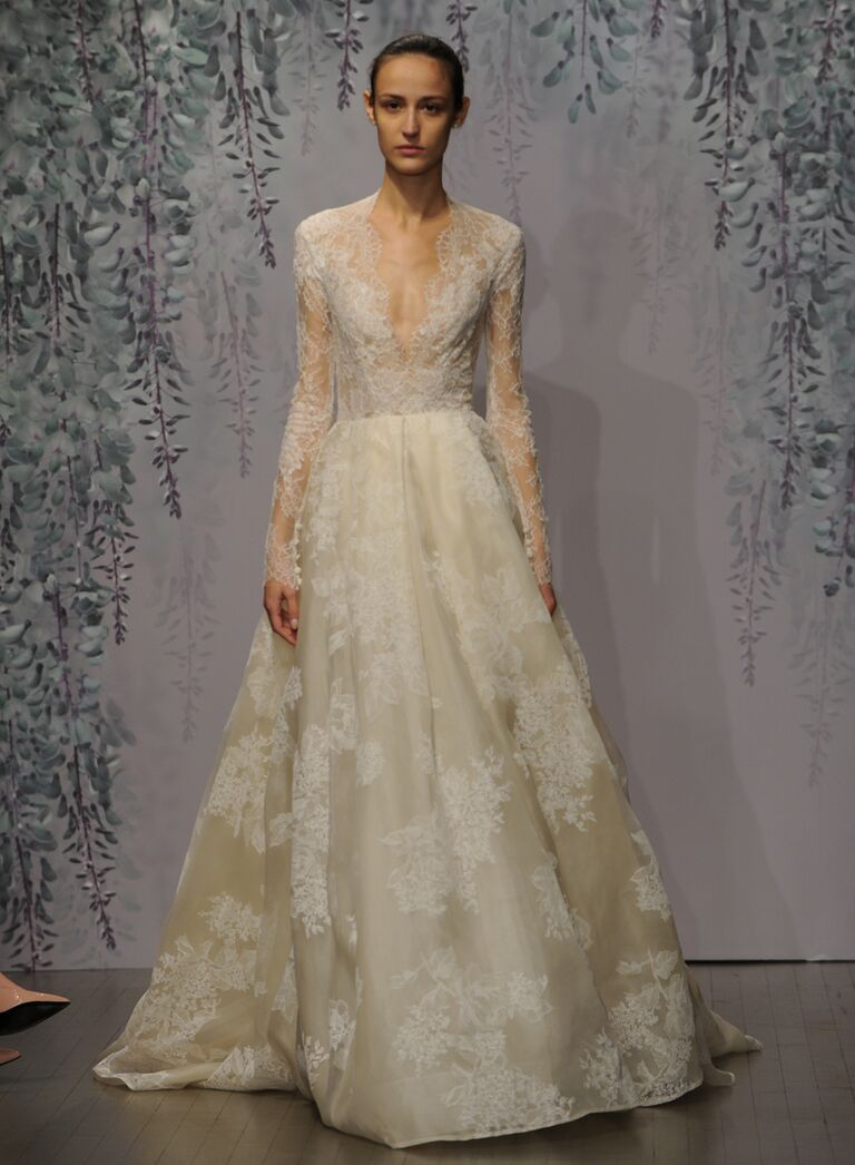 monique lhuillier fall collection wedding dress photos